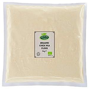 Harina de garbanzo orgánica 1 kg (sin gluten) de Hatton Hill Organic