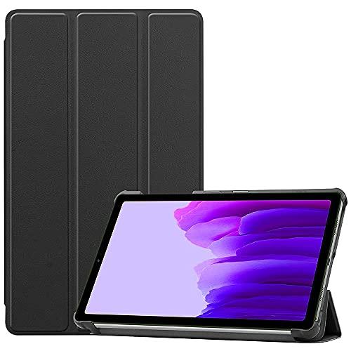 SDTEK Funda Compatible con Samsung Galaxy Tab A7 Lite (2021), Soporte De Cubierta Inteligente Plegable Delgado Ligero (Negro)