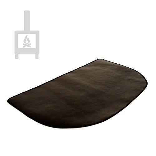 TEXFIRE - Alfombra ignífuga semicircular Multicapa, protector de suelo para estufa y chimenea (80x50cm)