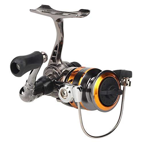 Mini carrete de pesca, mini carrete de pesca, clavijas izquierda/derecha de metal, codo de hielo, Rock Fish Spinning Reel, Armas doradas.