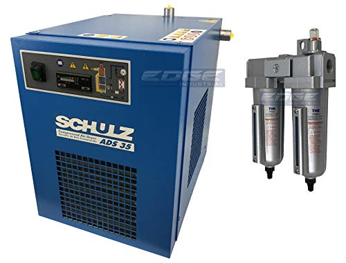 Schulz REFRIGERATED AIR Dryer for AIR Compressor, Compressed AIR Systems, 35 CFM, Good for 7.5HP & 10HP COMPRESSORS (with PRE-Filter)