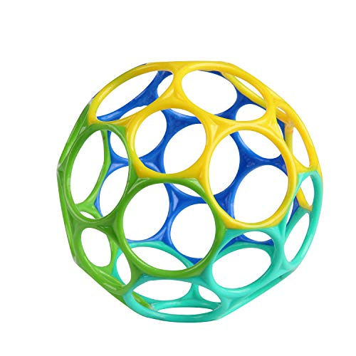 Bright Starts, Oball Classic, Flexibles und leicht Greifbares Design für Kinder jeden Alters, Blau/Grün