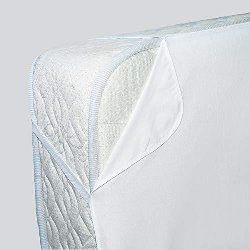 Tradition des Vosges Protège Matelas Alese Molleton Coton Bio 90 x 190 cm Blanc Fabrication française