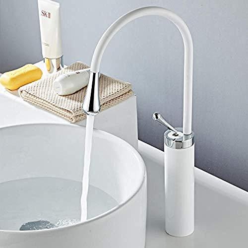 XDOUBAO Faucet Grifo italiano Lavado en caliente y en frío Lavabo Lavabo Nórdico Minimalista Negro Encimera Lavabo Grifo Blanco giratorio A783@A785