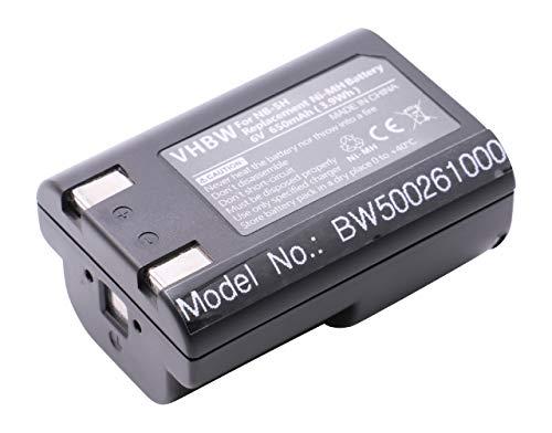 vhbw Batterie 650mAh (6V) Compatible pour Canon Powershot A5 (Zoom), A50, D350, S10, S20, A 50, D 350, S 10 20 remplace NB-5H, NB5H.