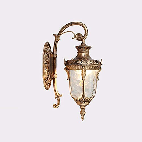 Victoria Vintage LED Bronze Schwanenhals Outdoor High Porch Beleuchtung Wandleuchte/Transparenter Schirm / E27 Max Wandleuchte/Aluminium / IP43 / Edelstahl Top/Wandleuchte Ba