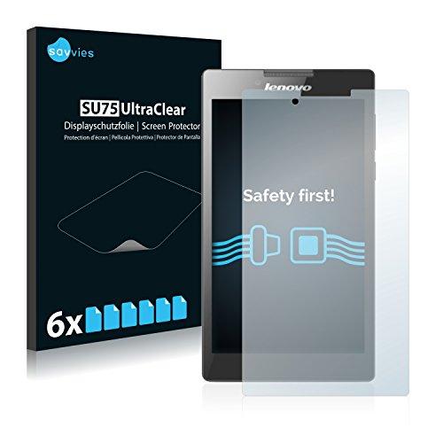 Savvies 6X Schutzfolie kompatibel mit Lenovo Tab 2 A7-30 (Kamera Links) Bildschirmschutz-Folie Ultra-transparent