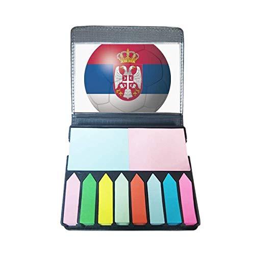 Servië Nationale Vlag Voetbal Zelf Stick Opmerking Kleur Pagina Marker Box