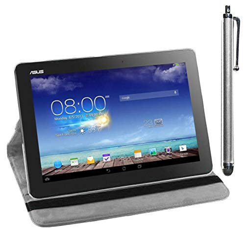 "ebestStar - kompatibel mit Asus Memo Pad 10 ME103K ME102A Hülle Memo Pad 10 ME103K ME102A Rotierend Schutzhülle Etui, Schutz Hülle Ständer, Rotating Cover +Stift, Weiss [Tab: 256x174x9.9mm 10.0""]"