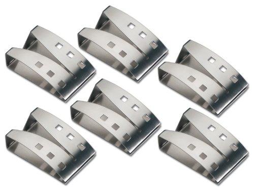 chg 9824-04 Handtuchhalter 6 Stück jeweils 7.5 x 5.0 x 2.3 cm, 7.5 x 5 x 2.3 cm