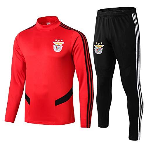 Znesd Benfica Fútbol Club Jersey Traje de Competencia, Transpirable Seco rápido de Manga Larga Jersey de fútbol y Pantalones Equipo Desgaste Fitness Sportswear (Color : Red, Size : L)