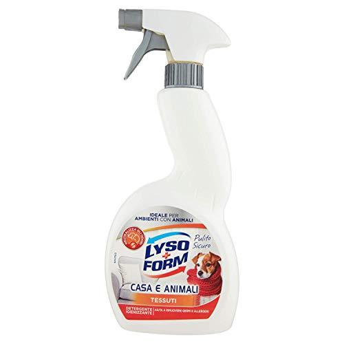 Lysoform Detergente Igienizzante per Superfici Abitate da Animali - 450 Ml, Tessuti