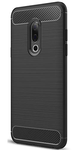 XINFENGDI Meizu 15 Hülle, Tasche mit Stoßdämpfung Robuste TPU Stylisch Karbon Design Handyhülle Case Hülle für Meizu 15 - Schwarz