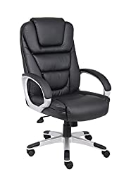 Boss Black LeatherPlus Executive Office Chair on sale