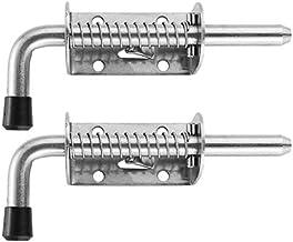 2 stuks 5 Inch Stainless Steel Spring Loaded Sluitpin Barrel Bolt 2mm Verdikte deurvergrendeling Brushed (Color : Silver)