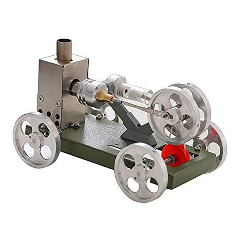 sharprepublic Modelo de Coche de Motor Stirling de Vapor Térmico, Juguete de Ciencia DIY para Niños