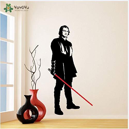 zaosan Wandtattoo Vinyl Aufkleber Anakin Skywalker mit Lichtschwert Gestanzte Junge Darth Vader Art Removable Poster 197x98cm