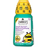 Zarbee's Naturals Children's Cough Syrup + Mucus & Immune, Natural Berry Flavor, 4 Ounce