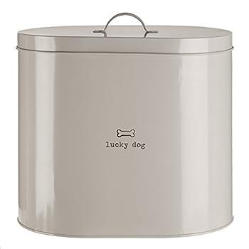 Premier Housewares Boîte de Stockage de Nourriture pour Animaux domestiques avec cuillère Naturel, Métal, Naturel, 12 L