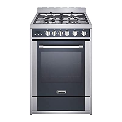 """Magic Chef Freestanding Oven MCSRG24S 24"""" 2.7 cu. ft. Gas Range with Convection, Stainless Steel"""