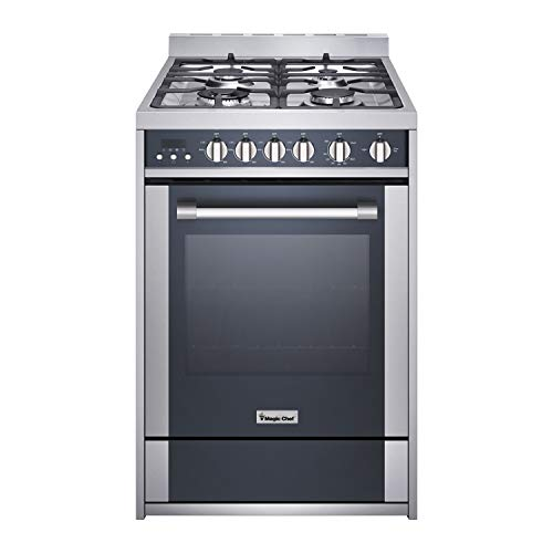 Magic Chef Freestanding Oven MCSRG24S 24' 2.7 cu. ft. Gas Range with Convection, Stainless Steel