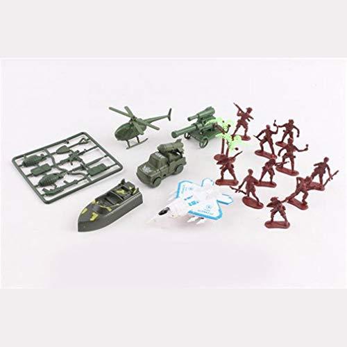 Militaire serie Gevechtsgroep Leger Mannen Militaire actiefiguren Speel emmer Militaire soldaat Speelset Vliegtuigen en meer