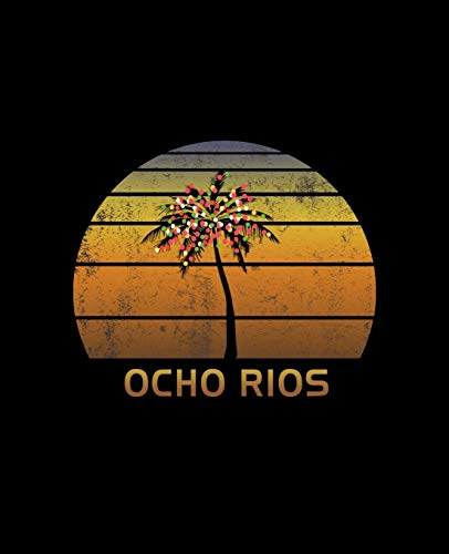 Ocho Rios: Christmas Journal Notebook With Retro Jamaican Sunset. Complete Shopping Organizer Holiday Food Meal Party Planner Budget Expense Tracker With Soft Cover 7.5 x 9.25, 120 Pages.