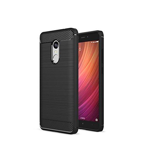 Litastore XiaoMi RedMi Note 4X Custodia, Protettiva Case Cover Custodia in Silicone per XiaoMi RedMi Note 4X - Nero