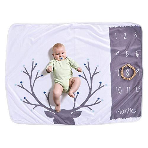 PZNSPY Baby deken pasgeboren baby cartoon foto deken beddengoed quilt voor bed bank deken covers pasgeborenen fotografie rekwisieten 102 * 70CM A2