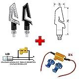 Compatible con BMW F 650 GS/GD 1 PAR DE Indicadores LED 12V para Motocicletas + 2 RESISTENCIAS 6 Ohm 25W para INDICADOR Parpadeante Kit Aprobado