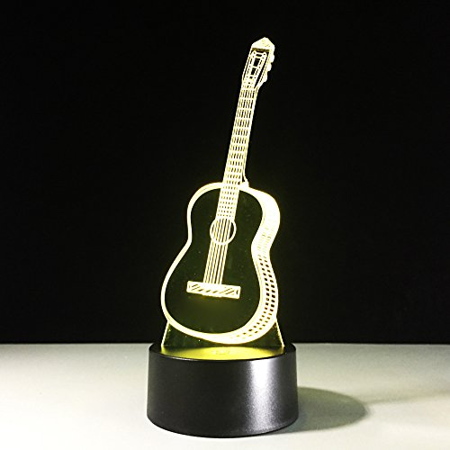 3D Glow LED Night Light Creative Guitar...
