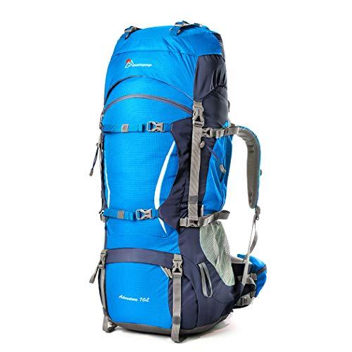 MOUNTAINTOP 70L 10L Mochila Trekking de Viaje Mochilas de Marcha Impermeable para Deporte