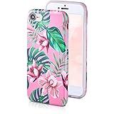 motivoo Flores Carcasa para Móvil Compatible con iPhone 7/8 Mate Design Bumper Case Dibujos iPhone 7 iPhone 8 Funda siliconaa Flowers Orquídeas Rosadas