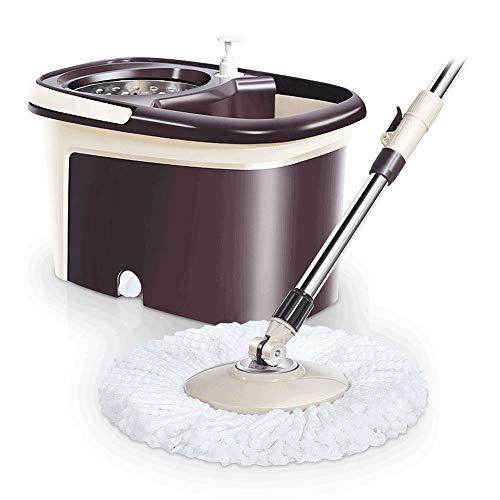 Fregona de la vuelta y el Cubo Set Spin Mop And Bucket Reutilizable De Microfibra De Acero Inoxidable 360 Spinning Mop Bucket Sistema De Limpieza De Pisos para la limpieza de la cocina casera del pi