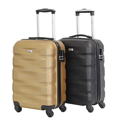 Set de 2 Bagages Cabines 55cm - Alistair Fly - ABS Ultra Légères et Résistantes - 4 Roues - Low Cost - Marque Française