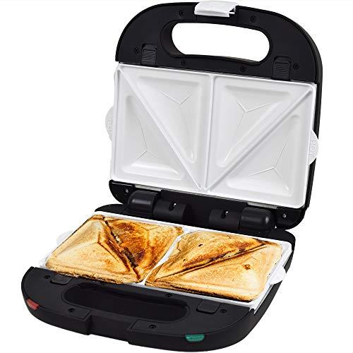 Syntrox Germany Chef Maker SM-1500W Sandwichmaker mit Keramik-Beschichtung, Edelstahl und herausnehmbaren Backplatten