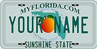 BleuReign(TM) Personalized Custom Name Florida State Car Vehicle License Plate Auto Tag (ALL STATES AVAILABLE)