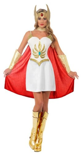 Deluxe She-Ra Costume for Women by Smiffys, officially licensed, size 12-14