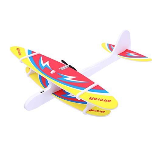 TOYANDONA Manuelles Werfen Flugzeug Spielzeug Modell Schaum Flugzeug Fliegendes Segelflugzeug Spielzeug Outdoor-Sportspielzeug (Zufälliges Muster)