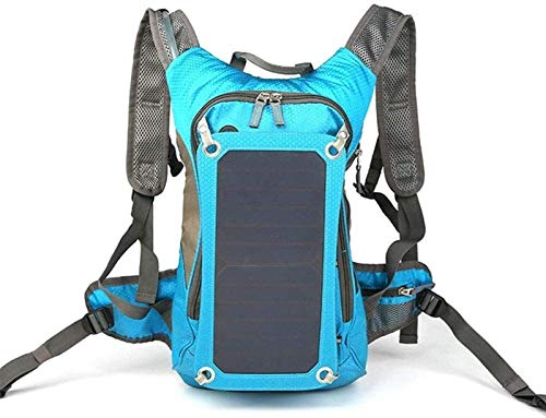 YCRCTC Beam Backpack - Outdoor Riding Solar Charging Backpack Solar Panel Charge Hiking Backpack& Earphone Port