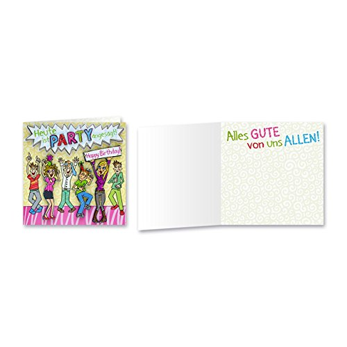 Sheepworld, Gruss & Co - 90029 - Klappkarte, mit Umschlag, Geburtstagsgrüsse mit Pop Nr. 29, Heute ist Party angesagt