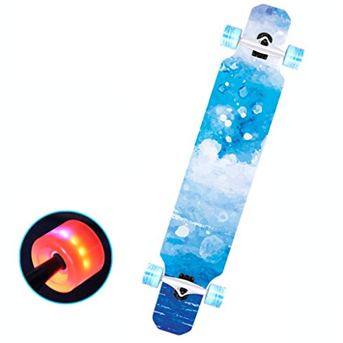 XHJTD Board Longboard incl High-Speed ABEC11 Bearings Drop-Through Skating Cruiser Boards for You to Choose (Color : B)