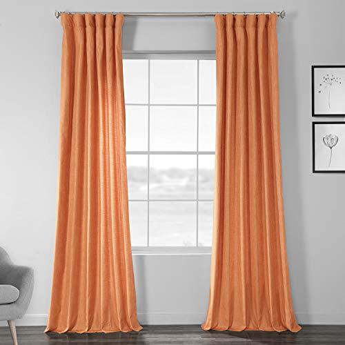 HPD SSCS-180706-84 Vorhang aus Seidenimitat, Shantung-Seide, 127 x 84, Monarch Orange