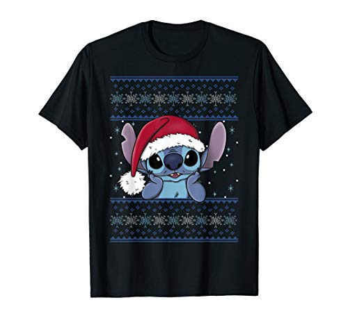 Disney Lilo & Stitch Christmas Stitch Ugly Sweater Style T-Shirt