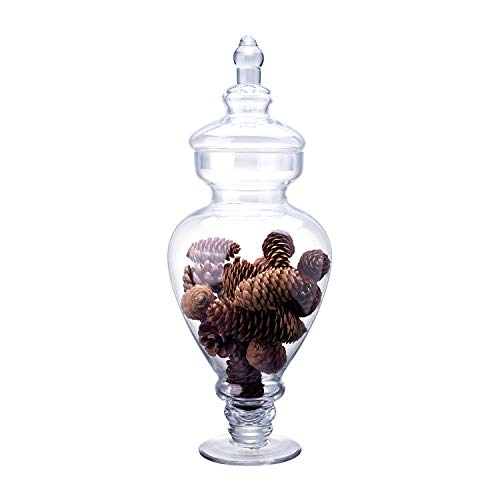 Diamond Star Clear Glass Apothecary Jar Candy Buffet Containers Footed Vase...