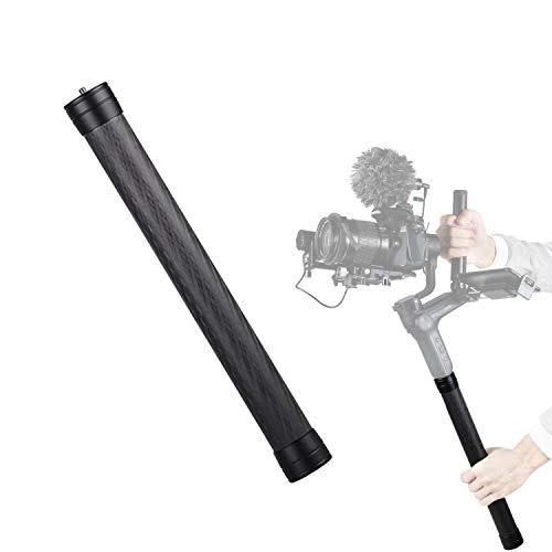 Varilla de extensión Gimbal de fibra de carbono monopié ligero de 1/4' 3/8' rosca para DJI Ronin S/SC, OSMO Mobile 3, ZHIYUN Crane 2 V2, Moza AirCross, FeiyuTech, cámara réflex digital, estabilizador
