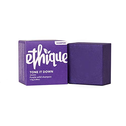 Ethique Eco-Friendly Purple Shampoo Bar for Blondes & Silver Hair, Tone It Down - Sustainable Natural Solid Shampoo, Soap Free, Sulfate Free, Vegan, Plant Based, 100% Compostable & Zero Waste, 3.88oz
