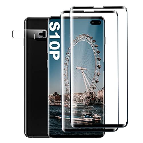 Panzerglas Schutzfolie für Samsung Galaxy S10 Plus, [2 Stück] Gehärtetem Glas Displayschutzfolie [9H Härte] [Anti-Kratzer] [Blasenfreie] Panzerglas Schutzfolie für Samsung Galaxy S10 Plus