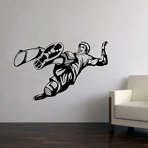 Calcomanías de pared para monopatín deportes extremos pegatinas de vinilo decoración del hogar niños niños dormitorio estadio hombre agujero fresco arte de la pared mural de la ventana