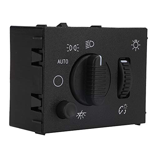 Headlight Switch - Compatible with Chevy Silverado, Suburban, Tahoe, GMC Sierra, Yukon, Cadillac Escalade - Replace D1595G, 19381535, 15194803, 1S8489 - Headlamp Dimmer Switch